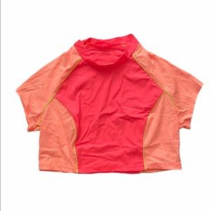 Vintage Coral and Pink Active CropTop